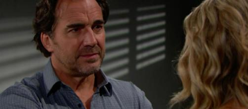 Shauna and Ridge in a secret agreement. [Image Source: Bold & the Beautiful/Twitter]