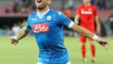 Napoli-Sampdoria 2-0: Mertens show; Venezia-Chievo 0-2, Marcolini sorride