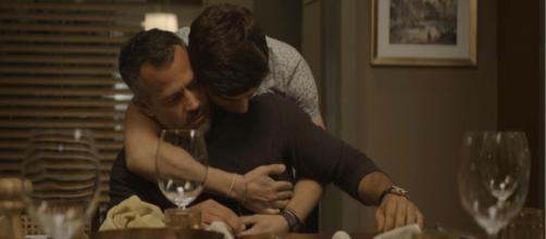 Agno e Leandro se entendem novamente. (Reprodução Rede Globo)