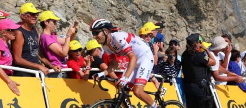 Fabio Aru impegnato al Tour de France.