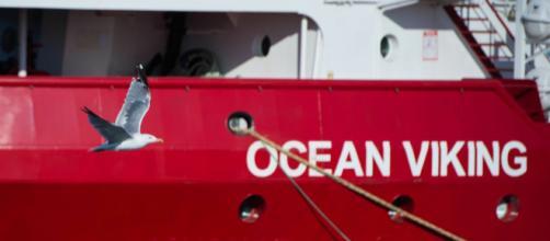 Ocean Viking arriva a Lampedusa (via APA - Austria Presse Agentur)