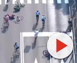 La caduta avvenuta nel finale della Coppa Bernocchi