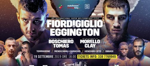 Firenze: Fiordigiglio vs Eggington, giovedì 19 settembre in streaming su DAZN