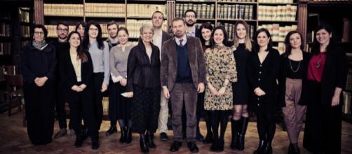 Gli allievi della Scuola del patrimonio con Massimo Osanna, direttore del parco archeologico di Pompei