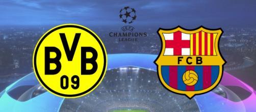 Dortmund x Barcelona terá transmissão ao vivo na TNT. (Fotomontagem)