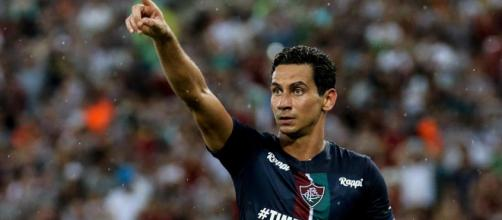 Fluminense: Ganso jogou mais adiantado e fez o gol da vitória sobre o Corinthians. (Divulgação/Lucas Merçon/FFC)