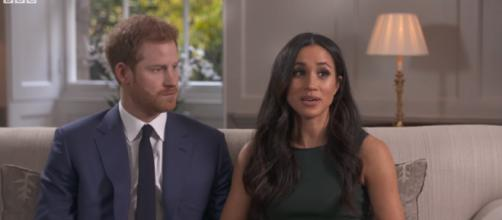 Meghan Markle and Prince Harry's marriage rumored to be in trouble. [Image Source: BBC/YouTube]
