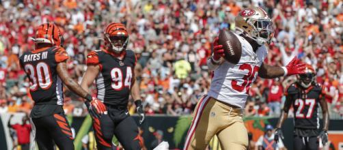 Los Niners tuvieron un ataque demoledor por tierra vs los Bengals. www.usatoday.com