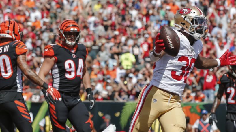 NFL Semana 2: Los Niners aplastan de visita a los Bengals, con gran juego terrestre
