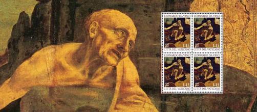 San Girolamo di Leonardo Da Vinci e i francobolli delle Poste Vaticane