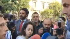 El alcalde Almeida y Ortega Smith discuten en plena calle sobre la violencia machista