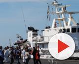 Sbarco di migranti sull'isola di Lampedusa