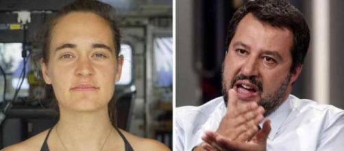 Carola Rackete a Piazzapulita non risponde su Matteo Salvini