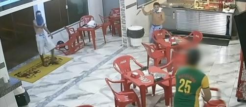 Imagens mostraram ação dos assaltantes. (Reprodução/Circuito de Segurança)