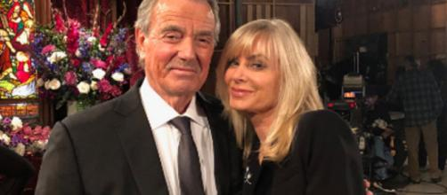Amid Victor Newman's death, srumor has it that stars Khalil and Morgan will be back on the show. [Image Source: Eric Braeden/YouTube]