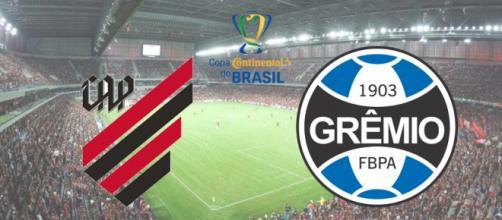 Athletico-PR x Grêmio ao vivo na TV Fechada e Aberta. (Fotomontagem)