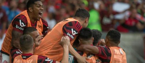 Flamengo venceu o Palmeiras por 3 a 0. (Reprodução/Instagram/@flamengo)