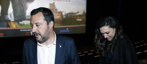 Matteo Salvini e Francesca Verdini lo scorso marzo alla presentazione del film d'animazione Dumbo a Roma