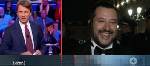 Matteo Salvini ospite di Nicola Porro a Quarta Repubblica
