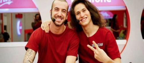 Amici Celebrities: Alberto, Giordana, Andreas Muller e Sebastian Melo tutor delle squadre.