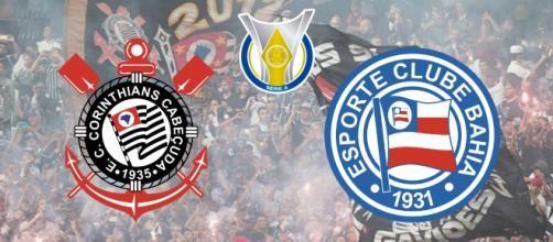 Corinthians x Bahia: transmissão ao vivo exclusivo no PFC. (Fotomontagem)