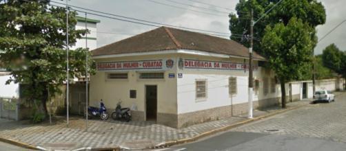Fachada da Delegacia de Defesa da Mulher de Cubatão, onde o caso foi registrado (Reprodução/Google Street View)
