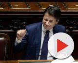 Giuseppe Conte esulta per Banca Carige