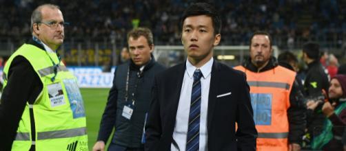 Inter, Steven Zhang con la squadra prima del derby
