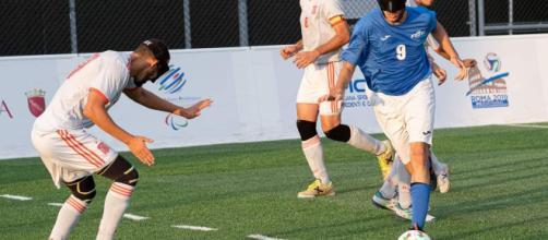 Sebastiano Gravina in azione contro la Spagna.