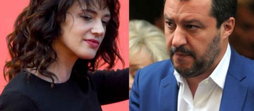 Asia Argento e Matteo Salvini: è scontro a Live-Non è la D'Urso