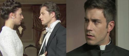 Una Vita anticipazioni: Telmo arriva a casa di Samuel mentre questi sta per baciare Lucia.