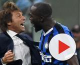 Conte e Lukaku, la grande esultanza dopo il gol del 2-0 al Milan realizzato dal centravanti belga