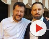 Matteo Salvini insieme a Santiago Abascal