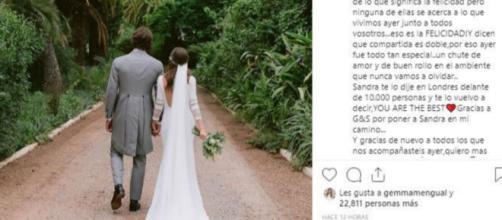 Feliciano López y Sandra Gago ya son marido y mujer. / Instagram