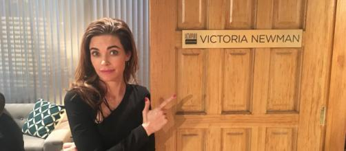 The Young and the Restless: Victoria Arrested for Mustache Murder (image source: Y&R Twitter verified account)