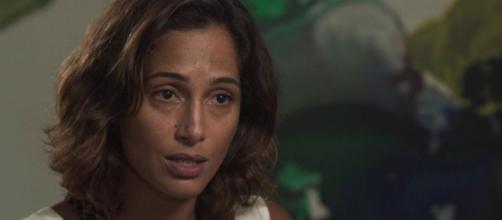 """""""Estou com minha alma em prantos"""", diz Camila Pitanga sobre morte de Agatha. (Reprodução/TV Globo)"""