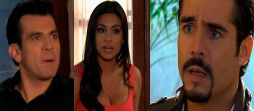 Rogério utiliza Ana Paula para se vingar de Rogério. (Reprodução/Televisa)