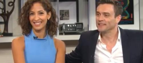 Daniel Goddard and Christel Khalil will be back on 'Y&R.' [Image Source: CBS/YouTube]