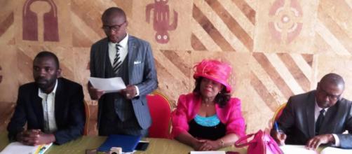 Le Collectif des Journalistes d'Investigation ce 25 septembre 2019 à l'hôtel des Députés de Yaoundé (c) Odile pahai