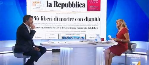 Matteo Renzi ospite a L'aria che tira su LA7