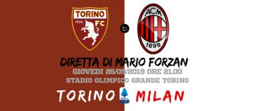 Serie A: La quinta giornata si chiude con Torino - Milan alle ore 21, Stadio Olimpico Grande Torino