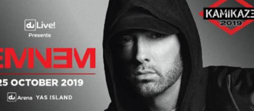 Eminem's Music At Center of $32 Million Battle Against Spotify [Image Credit : Eminem Twitter]