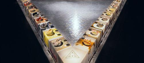 Judy Chicago's The Dinner Party ][Image source: Brooklyn Museum]