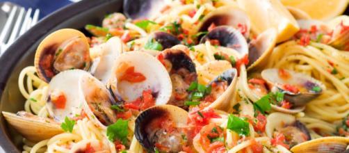 Las almejas son el ingrediente exótico en la receta Espagueti Vongole.