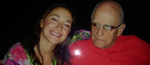 Sara Ricci assieme a suo padre