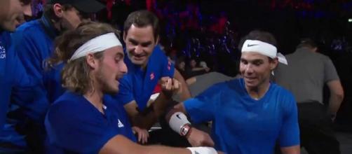 Tsitsipas: 'Alla Laver Cup ho capito perché Federer e Nadal sono i migliori di sempre'