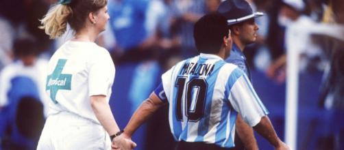 Maradona durante i Mondiali Usa 1994