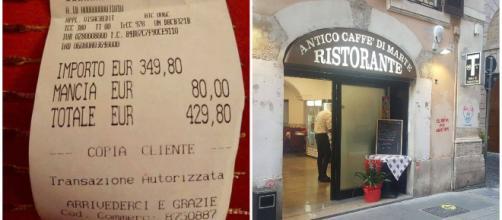 Roma, scontrino da 429 euro: ristorante chiuso (ma non per il conto)