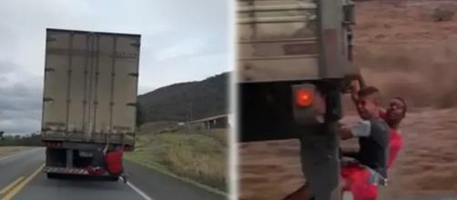 Vídeo flagrou situação perigosa. (Reprodução You Tube)