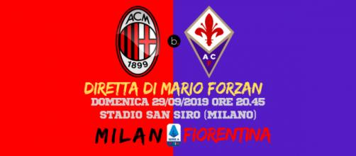6a giornata di Serie A: A San Siro è duello tra le deluse del campionato. Milan - Fiorentina alle ore 20.45